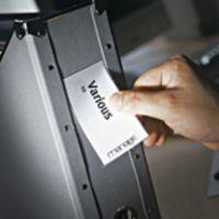 Value 3L Self Adhesive Label Holders 35x102mm 10325(PK12)