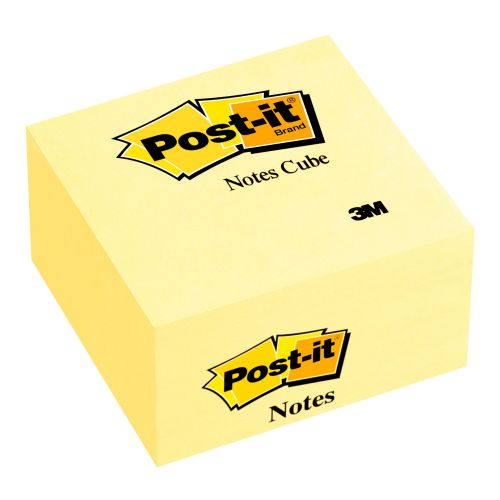 Post-it Note Cube 76x76mm Canary Yellow 450 Sheets 636B