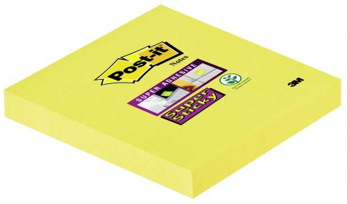 Post-it Super Sticky 76x76mm Daffodil Yellow PK12