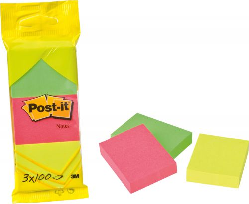 Post-It Notes 38X51mm 100 Sheet Pad Neon Assorted (Pack of 36) 6812