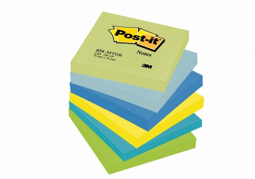 Post-it Notes 76 x 76mm Dream Colours (Pack of 6) 654MT