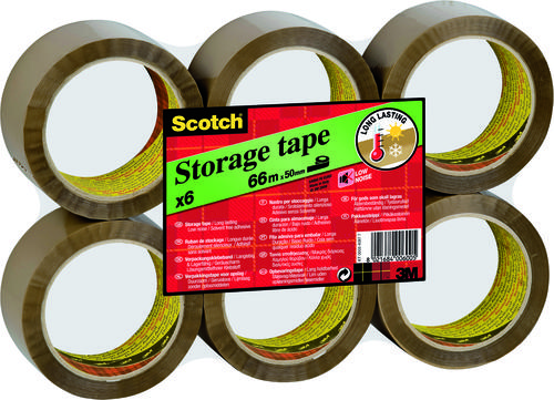 3M Scotch Low Noise Packaging Tape 48mm x66m Brown 3120BT