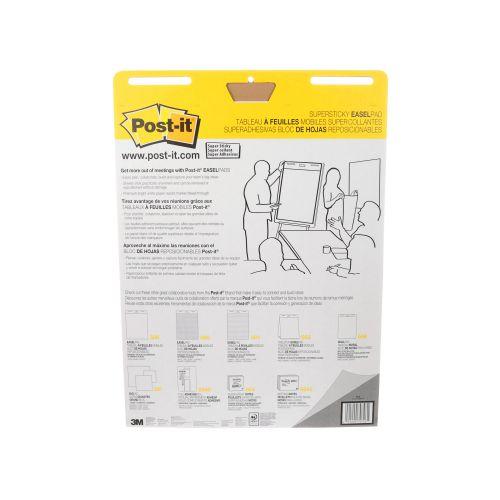 Post-it Super Sticky Plain Easel Pad 635x762mm 30 Sheet White (Pack of 6) 559-V6PK