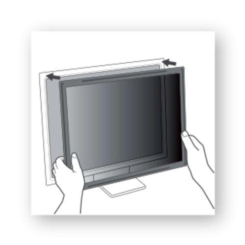 3M 24in Widescreen 16:10 Desktop Framed Privacy Filter PF324W