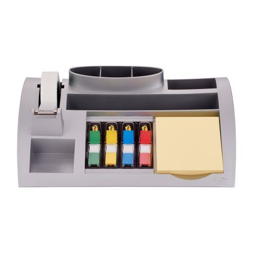 Post-it Desk Organiser Silver 6 Compartment 7000062207