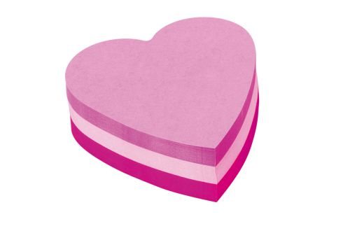 Post-it Heart Shaped Block Pad 70x70mm Pink 2007H