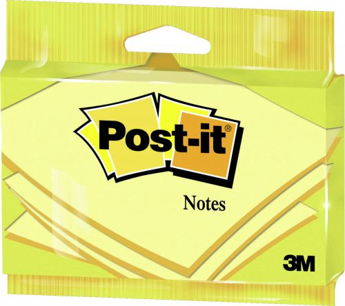Post-it 76 x 127mm Canary Yellow Notes (Pack of 12) 6830Y