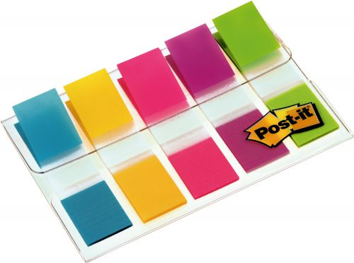 Post-it Index Flags 12mm 100 Tabs 5 Assorted Colours 683-5CB