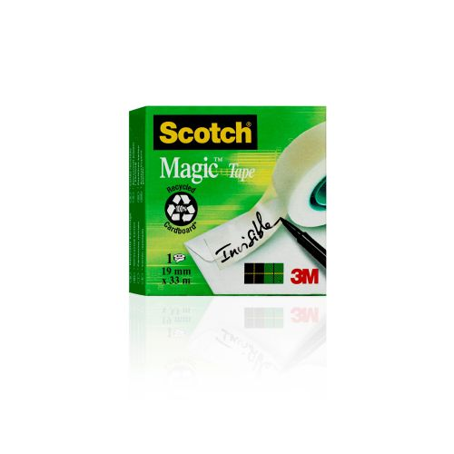 Scotch Magic Tape 810 Solvent-Free 19mmx33m Transparent 8101933