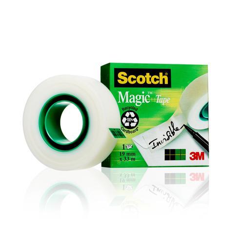 Scotch Magic Tape 810 Solvent-Free 19mmx33m Transparent 8101933 - 3M - 3M66729 - McArdle Computer & Office Supplies