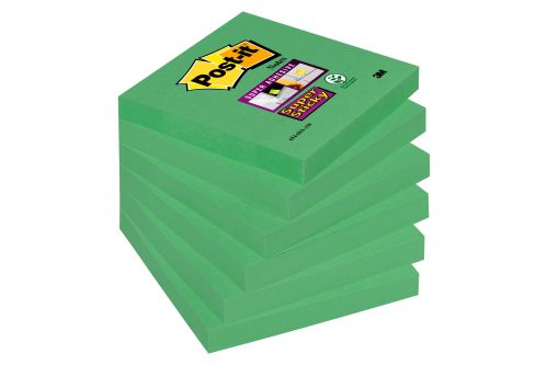 Post-it Super Sticky Notes 76x76mm Asparagus 654-6SS-AW PK6