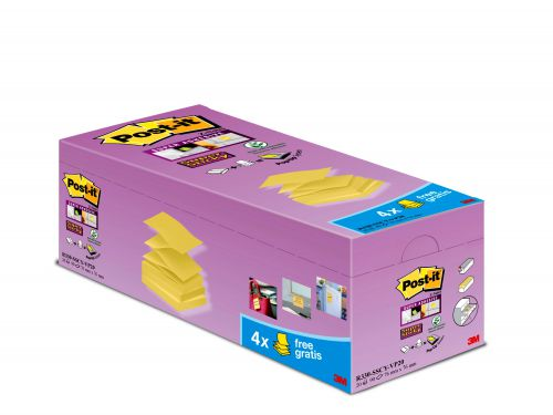 Post-it Super Sticky 7x76mm Z-Notes C Yel (Pack of 20) R330-SSCY-VP20