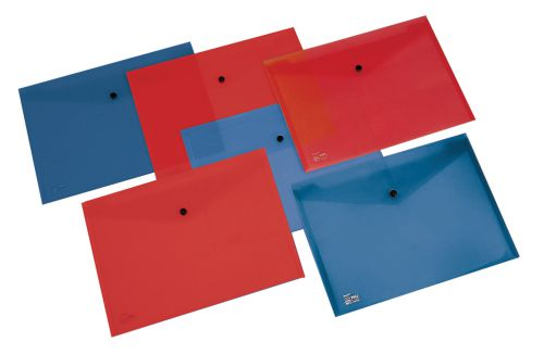 Rexel Pull Popper Folder A4+ Red - Outer carton of 5