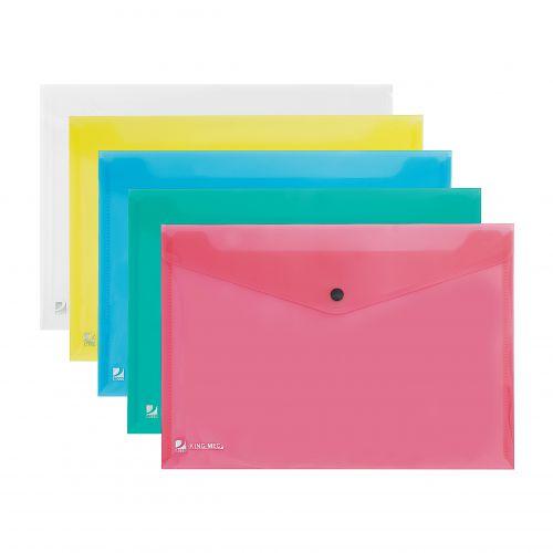 Rexel Popper Wallet A4 Assorted - Outer carton of 5