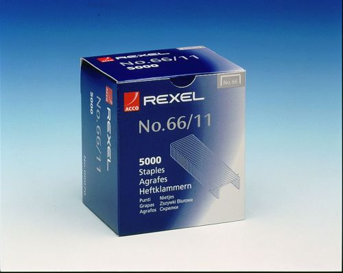 Rexel No. 66 Staples 11mm (Pack of 5000) 06070