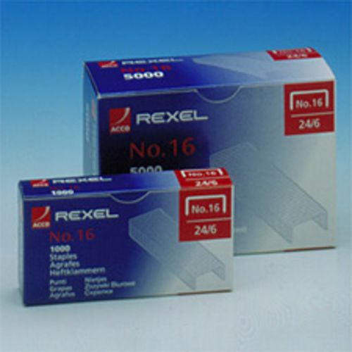 Rexel 16 Staples 6mm Ref 06121 [Pack 1000]