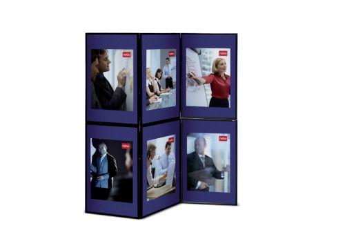Nobo Showboard 6 Panel Display Blue and Grey