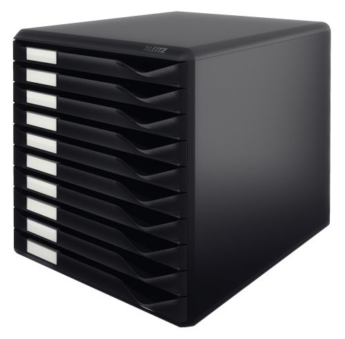 Leitz Form Set Filing Unit with 10 Drawers A4 Black