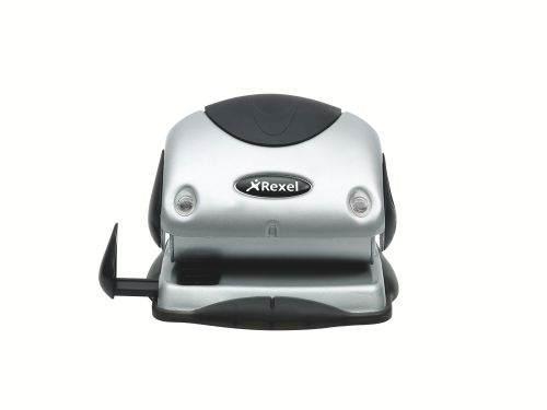 Rexel Precision P215 Hole Punch Silver/Black 2100738