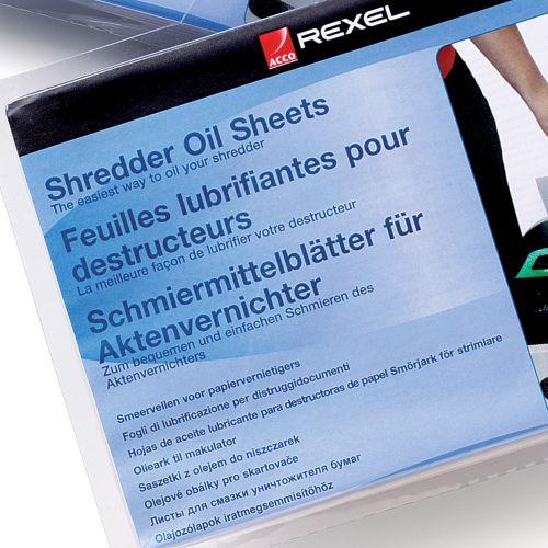 Rexel Shredder Non-Auto Oil Sheets (Pack of 20) 2101949