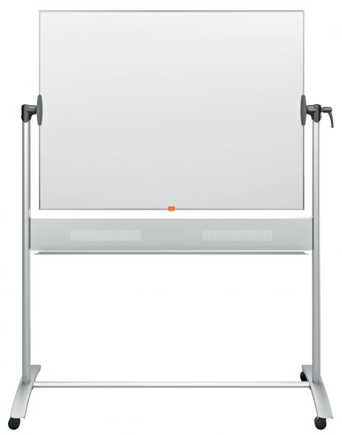 Nobo Mobile Steel Magnetic Horizontal Whiteboard 1200x900mm 1901029