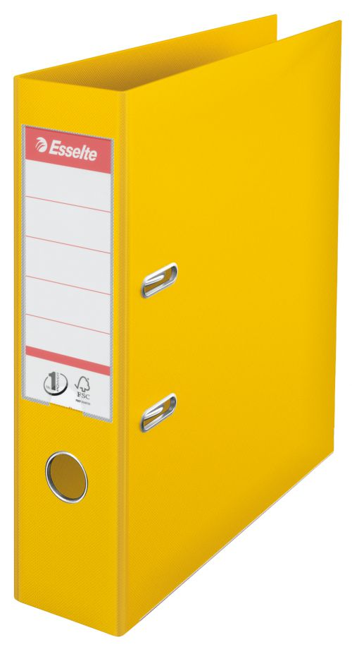 Esselte Polypropylene Lever Arch File 70mm A4 Yellow