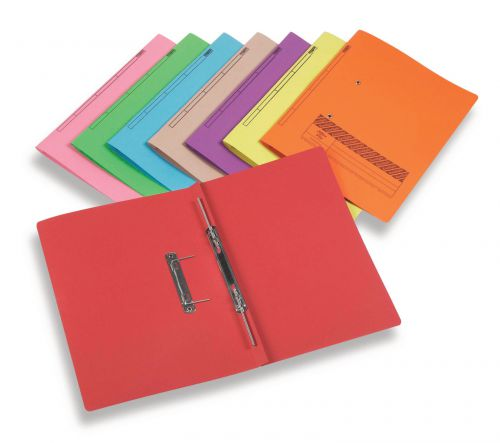 Rexel Jiffex Transfer File Foolscap Blue (Pack of 50) 43213EAST