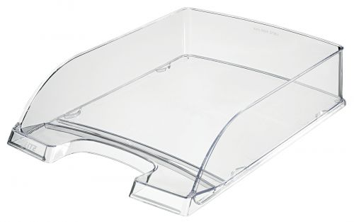 Leitz Plus Letter Tray, Transparent A4. Glass clear - Outer carton of 5