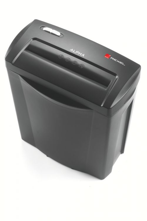Rexel Alpha Cross-Cut Shredder Black/Silver RM25511