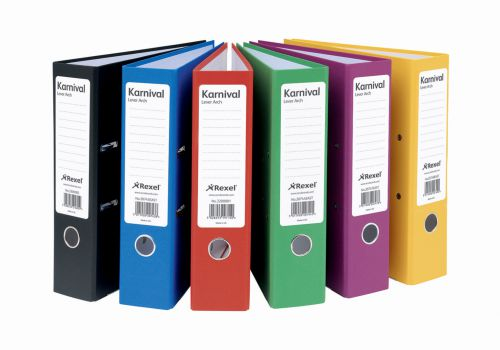 Eastlight Karnival Lever Arch File Paper on Board A4 70mm Spine Width Blue (Pack 10)