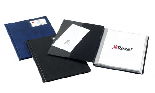 Rexel Nyrex Slimview Display Book 24 Pockets A4 Black Ref 10015BK