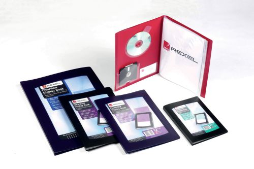 Rexel Clearview A5 Display Book 24 Pocket Black 10410BK