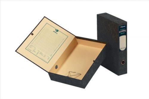 Rexel Classic Box File Lockspring A4 Black (Pack of 5) 30145EAST