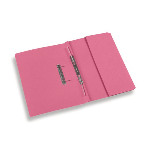 Rexel Jiffex Foolscap Transfer File with Pocket Pink PK25