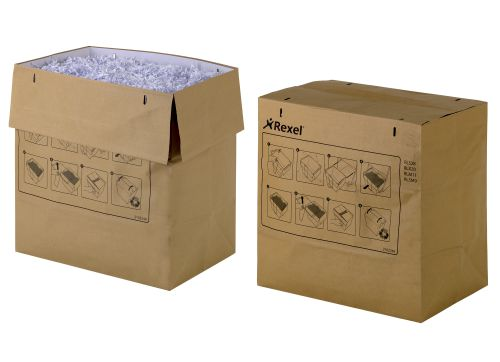 Rexel Recyclable Paper Shredder Bags Brown(Pack of 50) 2102248