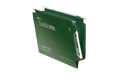 Rexel Crystalfile Extra 15mm File 150 Sheet Green (Pack of 25) 3000121