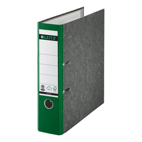 Leitz Lever Arch File Cardboard, A4, 80mm, Green - Outer carton of 10
