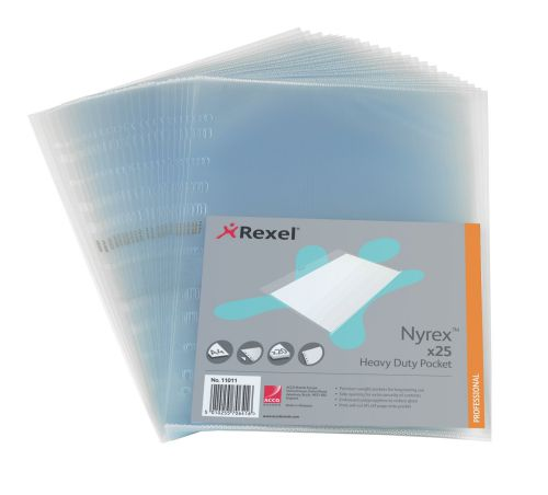 Rexel Nyrex Heavy Duty Side Opening Pocket A4(Pack of 25) NRBA41 11011