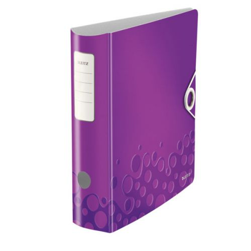 Leitz 180° Active WOW Lever Arch File. A4. 75mm. Purple.