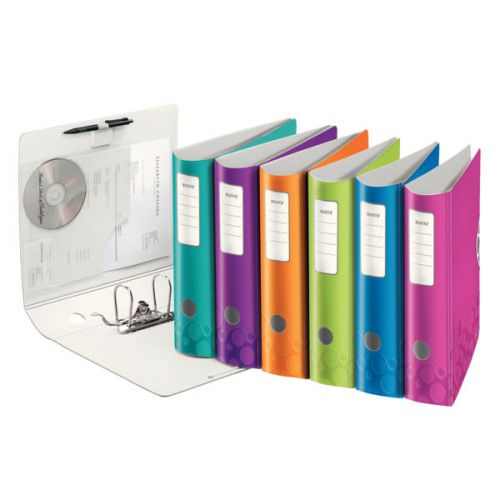 Leitz 180° Active WOW Lever Arch File. A4. 75mm. Assorted.