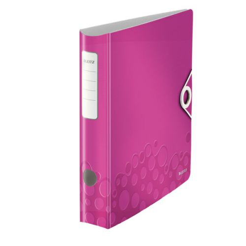 Leitz 180° Active WOW Lever Arch File. A4.  50mm. Pink.