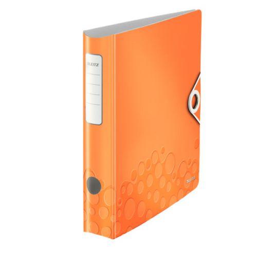 Leitz 180° Active WOW Lever Arch File A4 50mm Polypropylene Orange Metallic