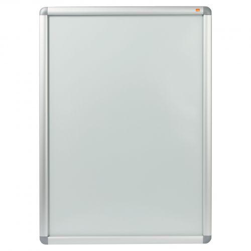 Nobo Clip Down Frame A1 Aluminium Frame Plastic Front Silver/Grey 1902211