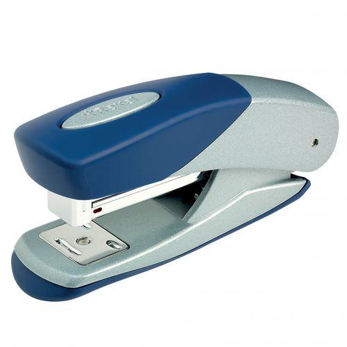 Rexel Matador Half Strip Stapler Silver/Blue 2100951