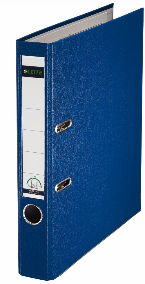 Leitz Mini Lever Arch File Plastic 52mm Spine A4 Blue 10151035 [Pack 10]