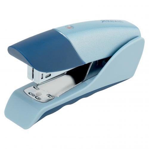 Rexel Gazelle Half Strip Stapler Silver/Blue 2100011