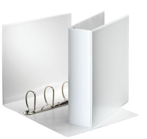 Esselte Essentials Presentation Ring Binder Polypropylene 4 D-Ring A4 60mm Rings White (Pack 10) 49706