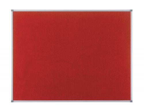 Nobo 1200x900mm Elipse Felt Board with Aluminium Trim Red