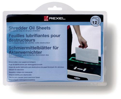 Rexel Shredder Oil Sheets 2101948 (PK12)