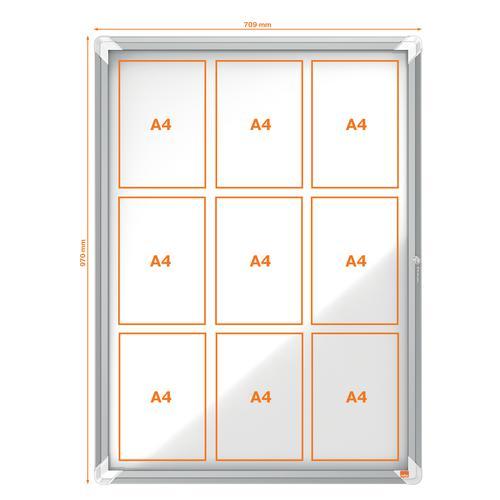 Nobo Weatherproof External Glazed Case 1000x752mm 1902580 Glazed Notice Boards NB06406